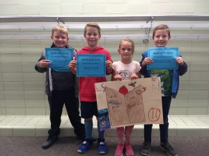 picture of 3rd grade 2nd place battle of the books winners